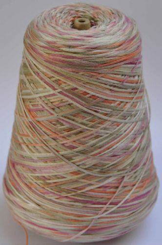 600g space dyed mercerised cotton tape yarn approx 4 ply